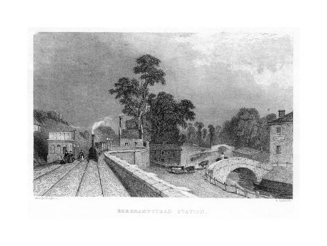 Berkhamsted Station, Hertfordshire, on the London and Birmingham Railway, C1860 Giclee Print