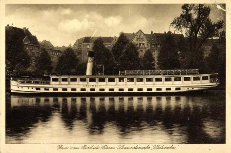 Berlin Kreuzberg, Riesen Luxusdampfer Columbus Giclee Print