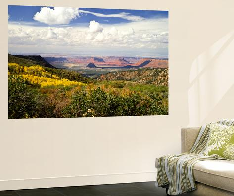 Castle Valley From La Sal Mountains With Fall Color in Valley, Utah, USA Giant Art Print