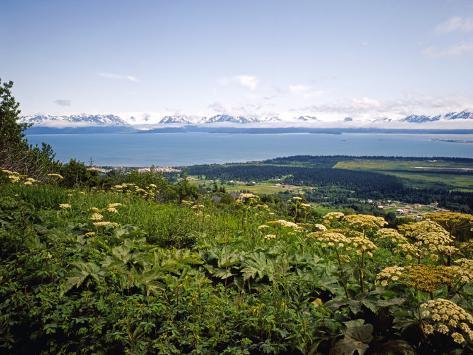 Kachemak Bay From Homer Looking To the Kenai Mountains Across Homer Spit, Alaska, USA Photographic Print