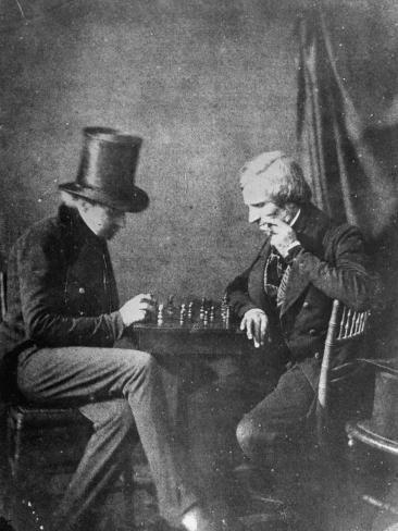 Portrait Study of Chess Players, to Show How Negatives Can Be Used to Make Any Number of Positives Photographic Print