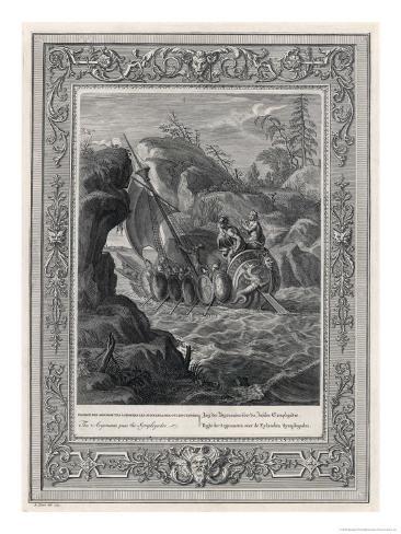 Jason and the Argonauts Sail Through the Symplegades a Pair of Clashing Rocks Giclee Print
