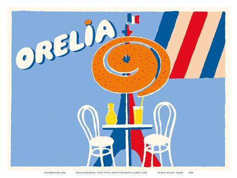 Orelia (Orangina) Beverage - Eifel Tower, Paris Taidevedos