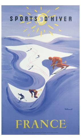 Sport d'Hiver en France Giclee Print