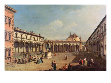 Piazza Della Santissima Annunziata, Florence Lámina giclée