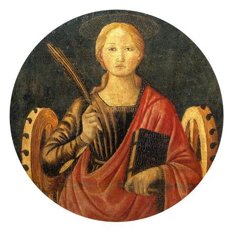 Altar Frontal with Saint Catherine of Alexandria Giclee Print