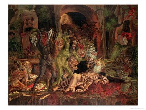Temptation of St. Anthony Giclee Print