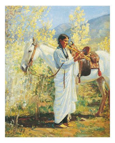 The Flute Player Stampa artistica