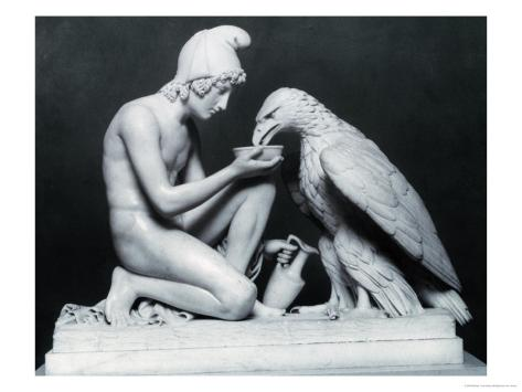 Ganymede with the Eagle of Jupiter, 1817 Giclee Print