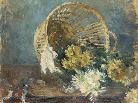 Chrysanthemums or the Overturned Basket, 1885 Lámina giclée