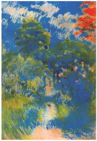 Berthe Morisot Gardenpath in Mezy Art Print Poster Poster
