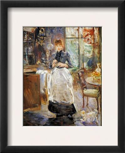 Berthe Morisot In The Dining Room   Morisot Dining Room 1886 Framed Giclee Print By Berthe Morisot