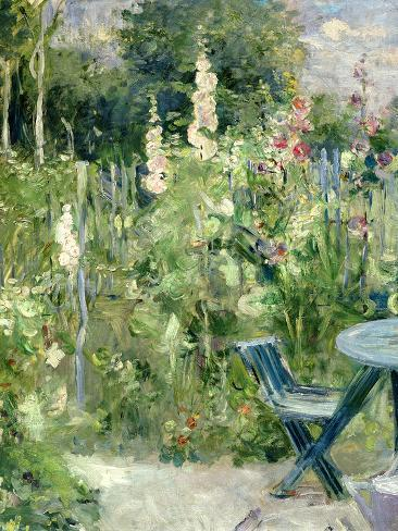 Roses Tremieres (Hollyhocks), 1884 Lámina giclée