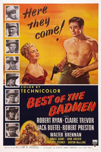 Best of the Badmen, from Left: Claire Trevor, Robert Ryan, 1951 Art Print