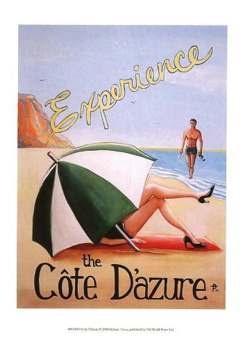 Cote d'Azure Art Print