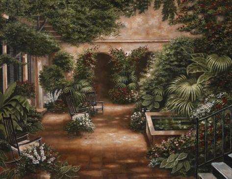 Courtyard in New Orleans II Art Print