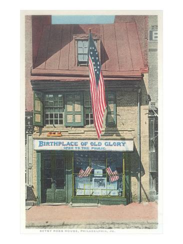 Betsy Ross House, Philadelphia, Pennsylvania Art Print