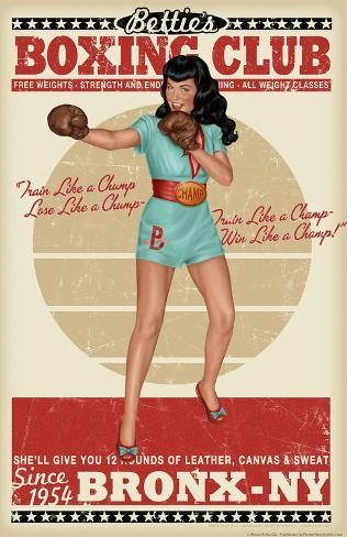 Bettie Page Boxing Club Poster