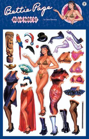 Bettie Page Dress Up Magnet Magnet