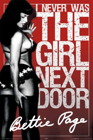 Bettie Page Girl Next Poster