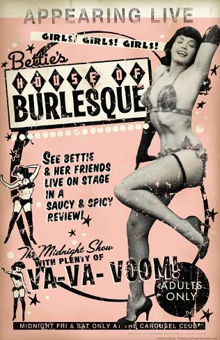 Bettie Page House of Burlesque Poster