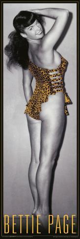Bettie Page Leopard Poster