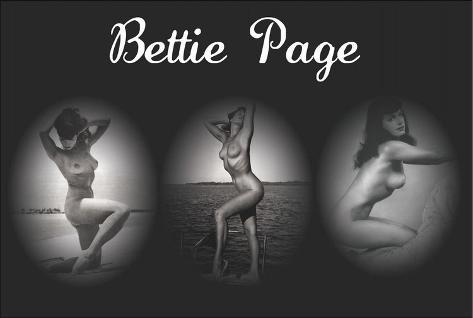 Bettie Page Triptych Poster