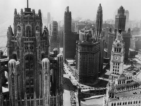 Chicago Skyscrapers in the Early 20th Century Photographic Print