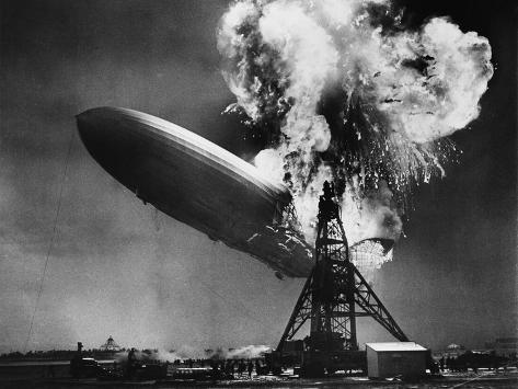 Hindenburg Explosion Lámina fotográfica