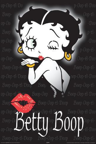 Betty Boop Boop Kiss Poster