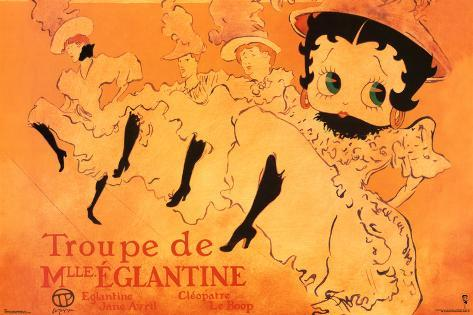 Betty Boop Movie (Troupe de Mlle. Eglantine) Poster Print Poster