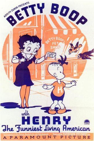 Betty Boop with Henry Masterprint