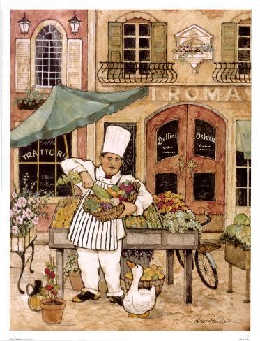 Chef at Market Art Print