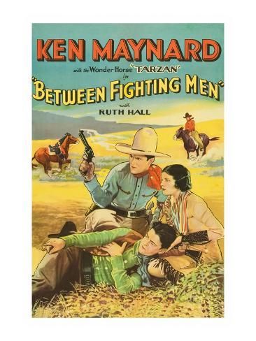 Between Fighting Men Art Print