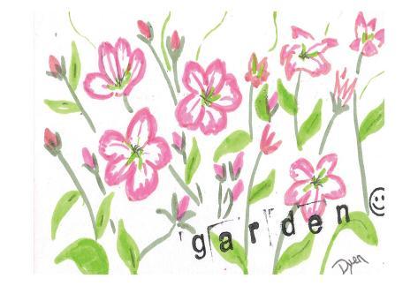 Garden Index Card Art Print