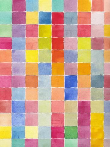 Rainbow Color Block 1 Art Print