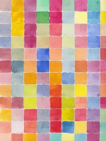 Rainbow Color Block 2 Art Print