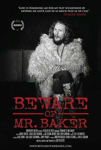 Beware of Mr. Baker Movie Poster Impressão original