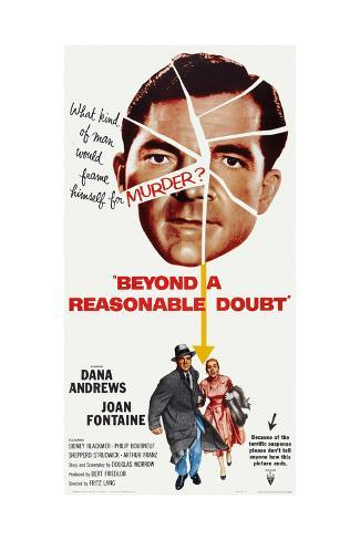 Beyond a Reasonable Doubt, Top: Dana Andrews; Bottom: Dana Andrews, Joan Fontaine, 1956 Art Print