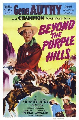 Beyond the Purple Hills Art Print
