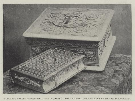 Bible and Casket Presented to the Duchess of York by the Young Women's Christian Association Lámina giclée