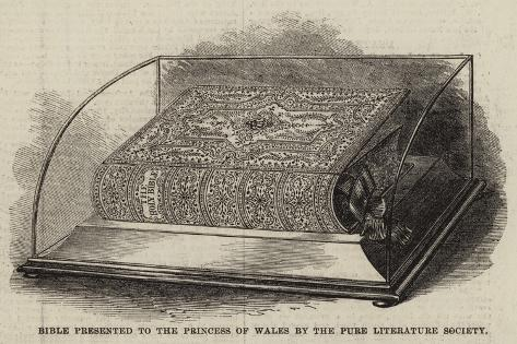 Bible Presented to the Princess of Wales by the Pure Literature Society Lámina giclée