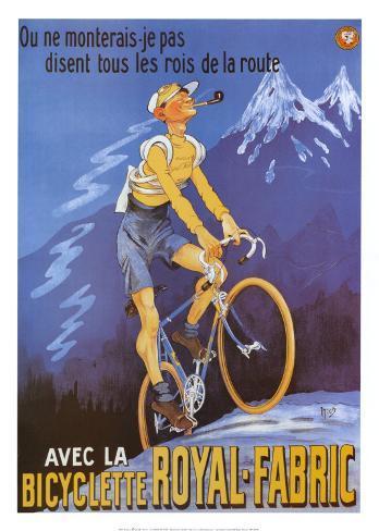 Bicyclette Royal Fabric Art Print
