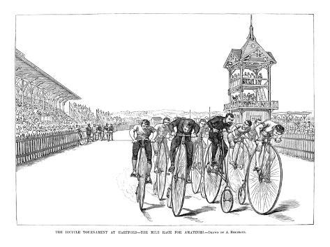 Bicycling Tournament, 1885 Stretched Canvas Print