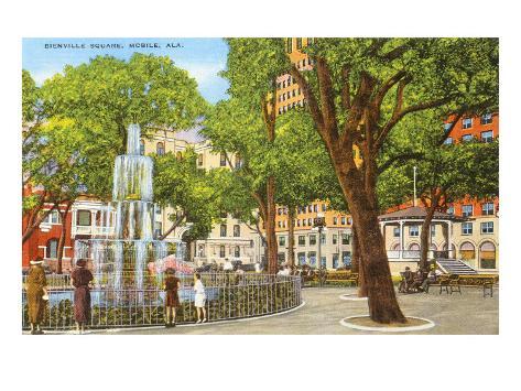 Bienville Square, Mobile, Alabama Art Print