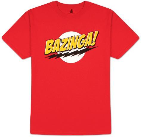 Big Bang Theory - Bazinga! No Face T-shirt