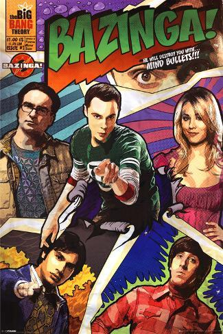 Big Bang Theory-Comic Bazinga Poster