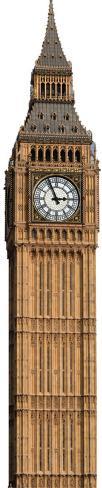 Big Ben Clock Tower Standup Cardboard Cutouts