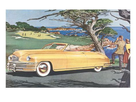 Big Car by Golf Course Art Print