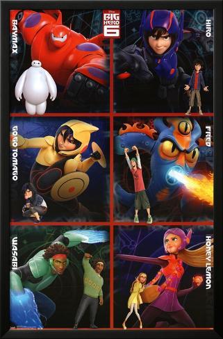 Big Hero 6 - Heroes Lamina Framed Poster